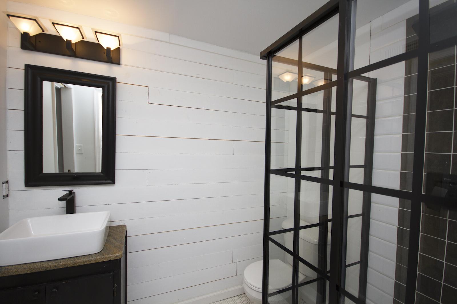 Industrial bathroom design